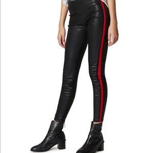 Blank NYC Vegan Leather Leggings w/Side Stripes